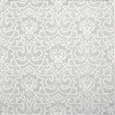 4x Paper Napkins for Decoupage - Wallpaper pattern silver