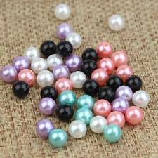 200pcs/Lot Faux Pearl Jewelry Making Craft Mixed Random Round Loose Beads w/hole