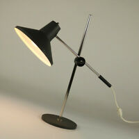Tisch Lampe Gelenkarm Ausleger Techniker Leuchte Schrumpflack Vintage 60er 70er