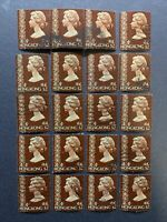 1973 Hong Kong - Sc#285 - $2.00 Definitive Lot of 20 Stamps  #3