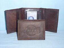 LOS ANGELES LAKERS    Leather TriFold Wallet    NEW    dark brown 3v nd