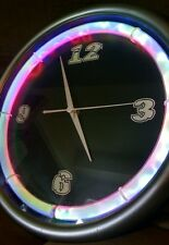 Unbranded Neon Blue Green Electric Shock Wall Clock with AC Adapter