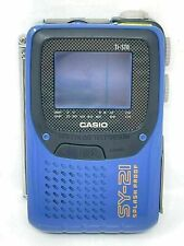 More details for casio sy-21 personal portable lcd colour television tv splash proof vintage