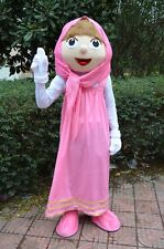 Lovely Masha Mascot Costume Masha and Bear Cartoon Costume Party Fancy Dress