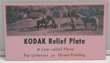 """Kodak Relief Plate for Letterset or Direct Printing 3x5"""" Ad Horses VINTAGE B108S"""
