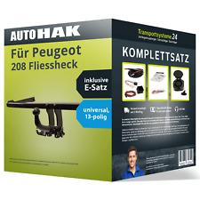 Anhängerkupplung abnehmbar für PEUGEOT 208 Fliessheck +E-Satz (AHK+ES)