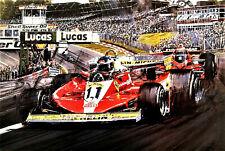 "Nicholas Watts print - "" Ferrari Ascendant "" - Signed by Carlos Reutemann - F1"