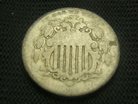1866 Rays  Old Shield Nickel US Type Coin post civil war era