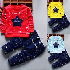 2PCS/Set Toddler Kids Baby Boys T-shirt Tops+Long Pants Tracksuit Casual Clothes