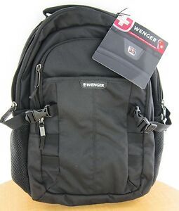 """New  Wenger Response 16"""" Computer Backpack - Black New with Tags Free Shipping"""