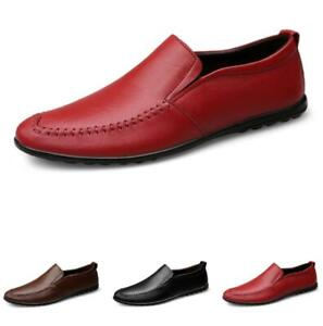 Men Leisure Leather Shoes Driving Moccasins Pumps Slip on Loafers Flats Casual L