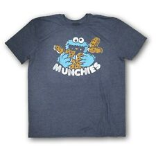 Sesame Street Cookie Monster Men's Navy Blue Short Sleeve T-shirt Size XL NWOT