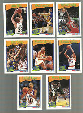 1991-92 NBA Hoops All-Time Active Leaders Sub Set (8 Cards) Michael Jordan