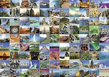 NEW! Ravensburger 99 Beautiful Places on Earth 1000 piece scenic jigsaw puzzle