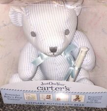 CARTER's Newborn Baby Boy Autograph Bear Baby's First Visitors New Plush Unique