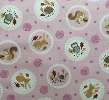 Kids Nursery 100/% Cotton Winceyette Fabric Material Baby Zebra Aqua 112cm