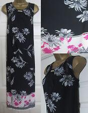 NEW EX Evans Plus Size Floral Print Maxi Long Dress Summer Sun Black Pink 14-20