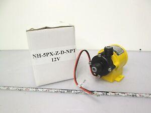 New Pan World NH-5PX-Z-D Magnetic Pump 12VDC 2.5m Head 14LPM Flow 2500-3500RPM