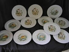 12 LIMOGES France Wine & Cheese Plates AWESOME!