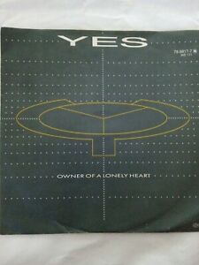 """YES --  Owner Of A Lonely Heart/Our Song- von 1983 ATCO 7"""" Vinyl guter Zustand"""