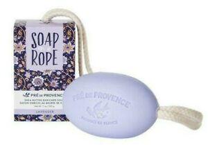 PRE de PROVENCE SOAP ON A ROPE - LAVENDER ~ Shea Butter ~ 1 Lge. Bar 7 oz./ 200g