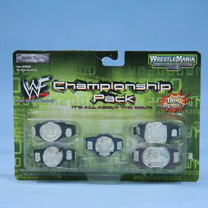 WWF Jakks Championship Title Set Pack - Wrestling Belts Accessories Wrestlemania