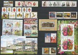 Moldova 2017 Complete year set MNH stamps, blocks, sheets and booklet