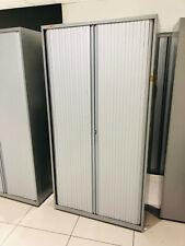 More details for bisley various tall medium tambour door cabinet metal storage unit silver walton