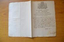 ANTICO MANIFESTO D. GIUSEPPE ALESSANDRO DE THAON ORDINE SS MAURIZIO TORINO 1814