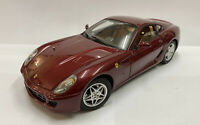 1/18 2007 Hotwheels Elite Ferrari 599 GTB Maroon Red, Boxed!