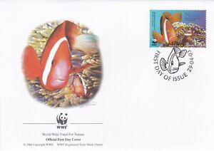 WWF116) WWF Panda, FDC, Fish, Nauru, 29 April 2003, set of 4