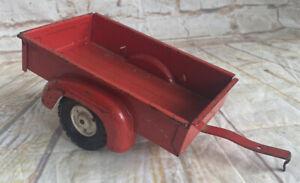 Vintage Tru Scale Utility Wagon Bed Trailer Farm Toy 1/16 Pressed Steel