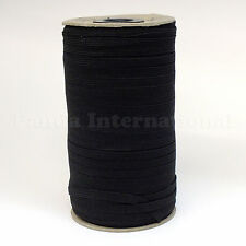 New Soft Polyester Elastic Band for many application 1/4 inch, 144 Yard/ro Black