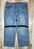 Icon Victory Pant Sz 36 Reinforced Medium Wash Button Fly Motorcycle Jeans
