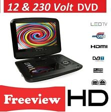 "9"" 12V HD Digital TV WITH DVD PLAYER V. BOAT, CARAVAN ,HGV TRUCK DivX, MPEG-4"
