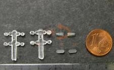 Ersatz-Teilesatz Scheinwerfer + Gitter z.B. für ROCO Diesellok V 200 Spur H0 NEU