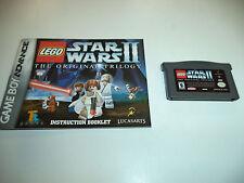 LEGO Star Wars II: The Original Trilogy (Nintendo Game Boy Advance) with Manual!