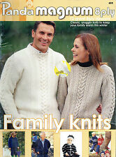 PANDA 8ply KNITS FOR ALL THE FAMILY ~ BABY, TODDLER, CHILD, MEN & WOMEN