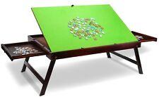 Wooden Jigsaw Puzzle Table Portable Folding Tilting Storage Drawers 1000pcs Mat