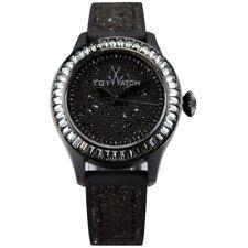 Toy Watch Women's Glitter Swarovski Crystal Bezel Silicone Strap 38mm Watch