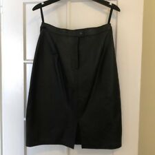 Comint Argentine Genuine Womens Leather Straight Black Skirt Sz 13/14