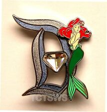 Disney 3D Pin 60th Anniversary Diamond Letter D ARIEL 11 of 12 Pin LE of 3000