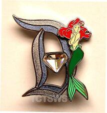 Disney 3D Pin 60th Anniversary Diamond Letter D ARIEL 11 of 12 Pin LE of 3000