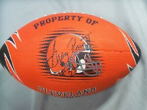 Greg Pruitt, Cleveland Browns, Signed Browns, Orange Football, Clean