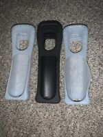 Nintendo Wii Controller Rubber Silicone Cover Grip Sleeve Lot Of 3 Clear & Black