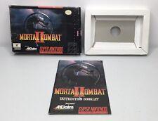 SNES Mortal Kombat II 2 Original Box/Tray + Manual Only *Authentic* *No Game*