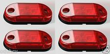 4x 4 LED Lateral Trasero Marcador Rojo Luces 24v PARA EL CARRO REMOLQUE IVECO