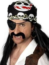 Pirate Bandana Costume Headscarf Black Skull and Crossbones Head Scarf Bandanna
