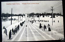 CANADA~1909 Montreal~Toboggan Track on Mont Royal~