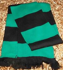 GREEN & BLACK BAR SCARF